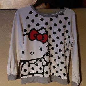 Hello Kitty Red/Blk/Wht Sweat Shirt